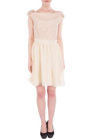 Cream bow dress