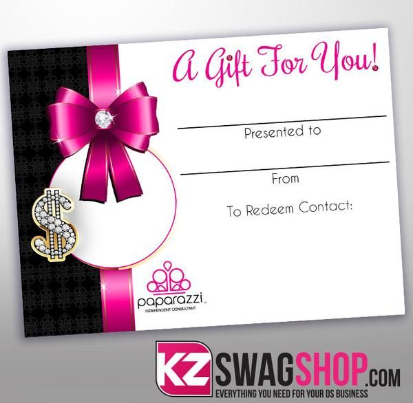 Includes: 25 - 5.5x4.25 gift certificates printed on premium matte stock (Envelopes not included)