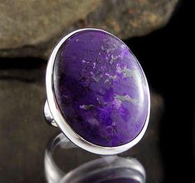 Sugilite Silver Ring size 8 | Entia Jewellery | Australia | threemadfish.com