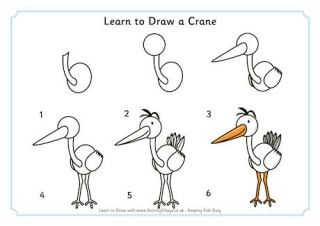 78 images about dessin on pinterest how to draw animals for How to draw a crane step by step