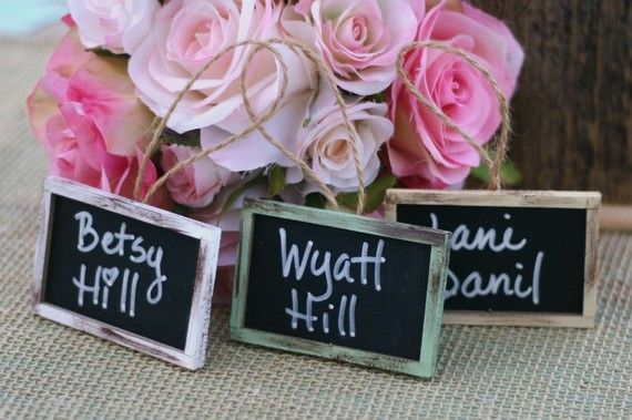 Mini Chalkboard Signs   SET OF 25 Mini Rustic Chalkboard Signs for by braggingbags on Etsy