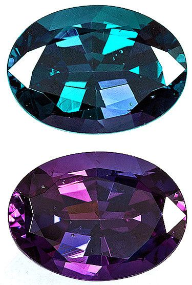 Alexandrite Loose Gemstone, Greenish Blue To Reddish Purple Color Change, Oval Cut, 9.72 x 7.01 mm, 2.27 Carats at BitCoin Gems
