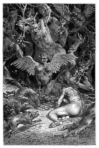 Jean-Edouard Dargent  - Illustrations from Dante's Divine Comedy 1870 (3) by Aeron Alfrey, via Flickr
