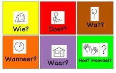 Deze kleurengrammatica hanteert Zien is snappen ook, om zinnen te bouwen en betekenisondersteuning te geven. DigiFemke geeft tips voor het gebruik in de kleuterklas #NT2 #kleuters #zienissnappen