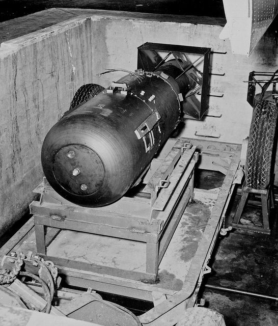 The 'Little Boy' atomic bomb used against Japan, 1945.