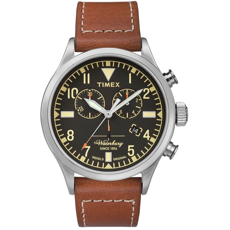 Timex x Red Wing Waterbury Chronograph Watch (Black & Rust)