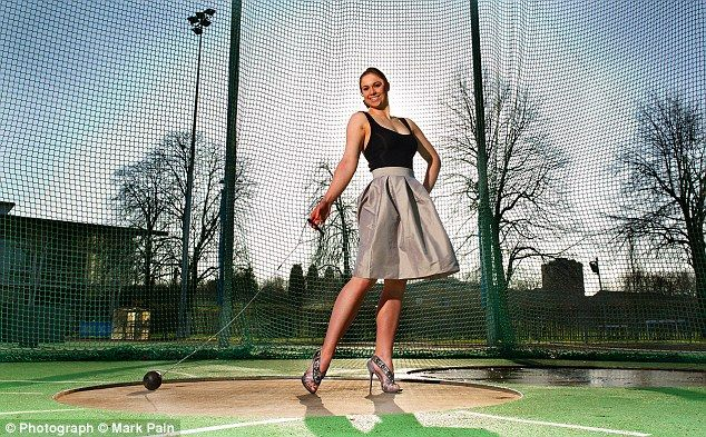 Under pressure: Dancer turned hammer thrower Sophie Hitchon credits her years of performing ballet on the stage for helping her cope with pressure