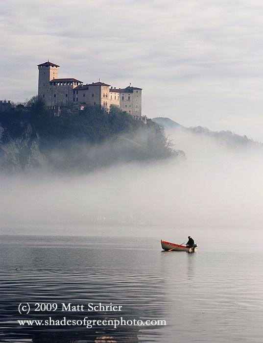 La Rocca di Angera, Art Photograph Print - Morning on Lake Maggiore - Fine Art Photography by Matt Schrier