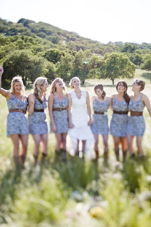 love the bridesmaid dresses! casual and cute