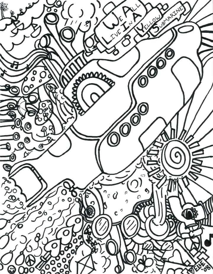 Beatles Coloring Book Coloring Book As Well As Hippie Art Coloring
