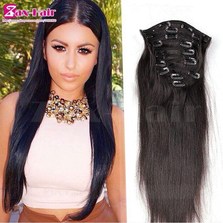 17 best zax human hair weft images on pinterest hair weft hair clip in human hair extensions 7a brazilian human hair clip in hair extensions silky straight 7pcs pmusecretfo Choice Image