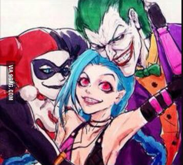 To the guy who uploaded a picture with deadpool and harley quinn as jinx's parents, what about this? - 9GAG