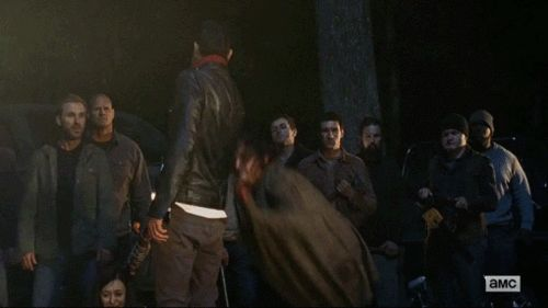Daryl punches Negan [gif]