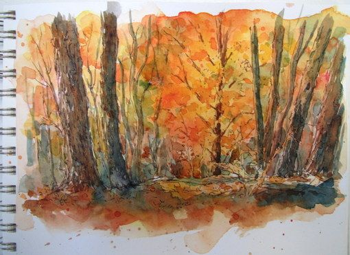 """Step-by-Step Watercolor Painting: """"Autumn Glow"""""""