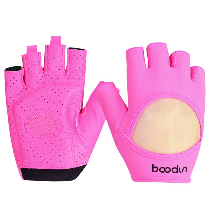 Brand Women Gym Gloves Slip Resistant Lycra & Leather Gloves Sports Body Building Exercise Training Yoga Fitness Glove ZC-AGL015