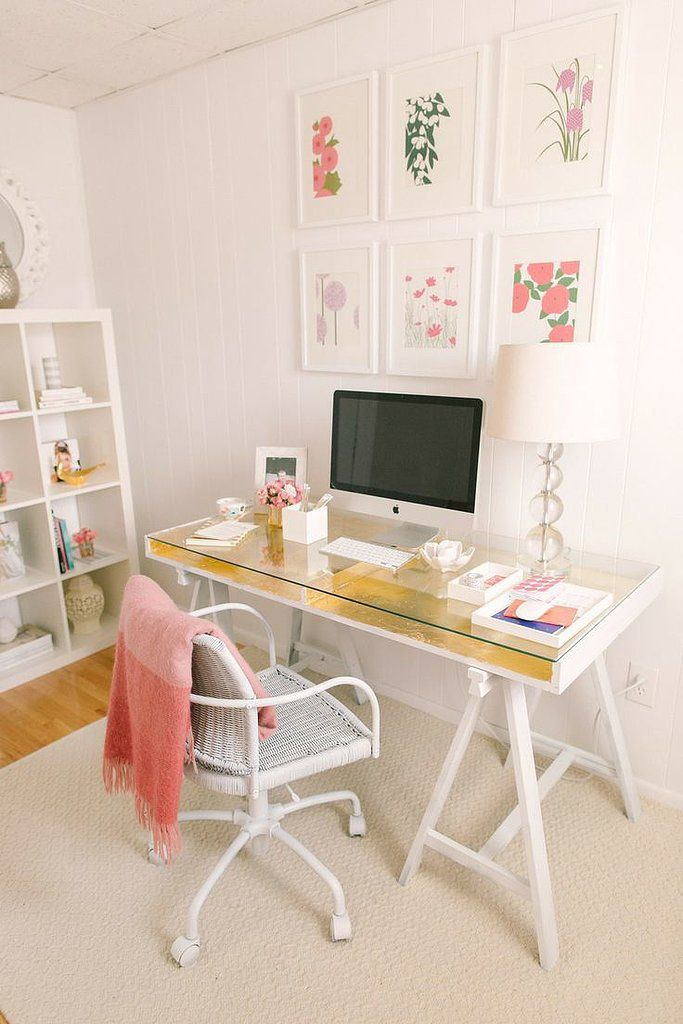 An Ikea desk gets a glamorous upgrade!