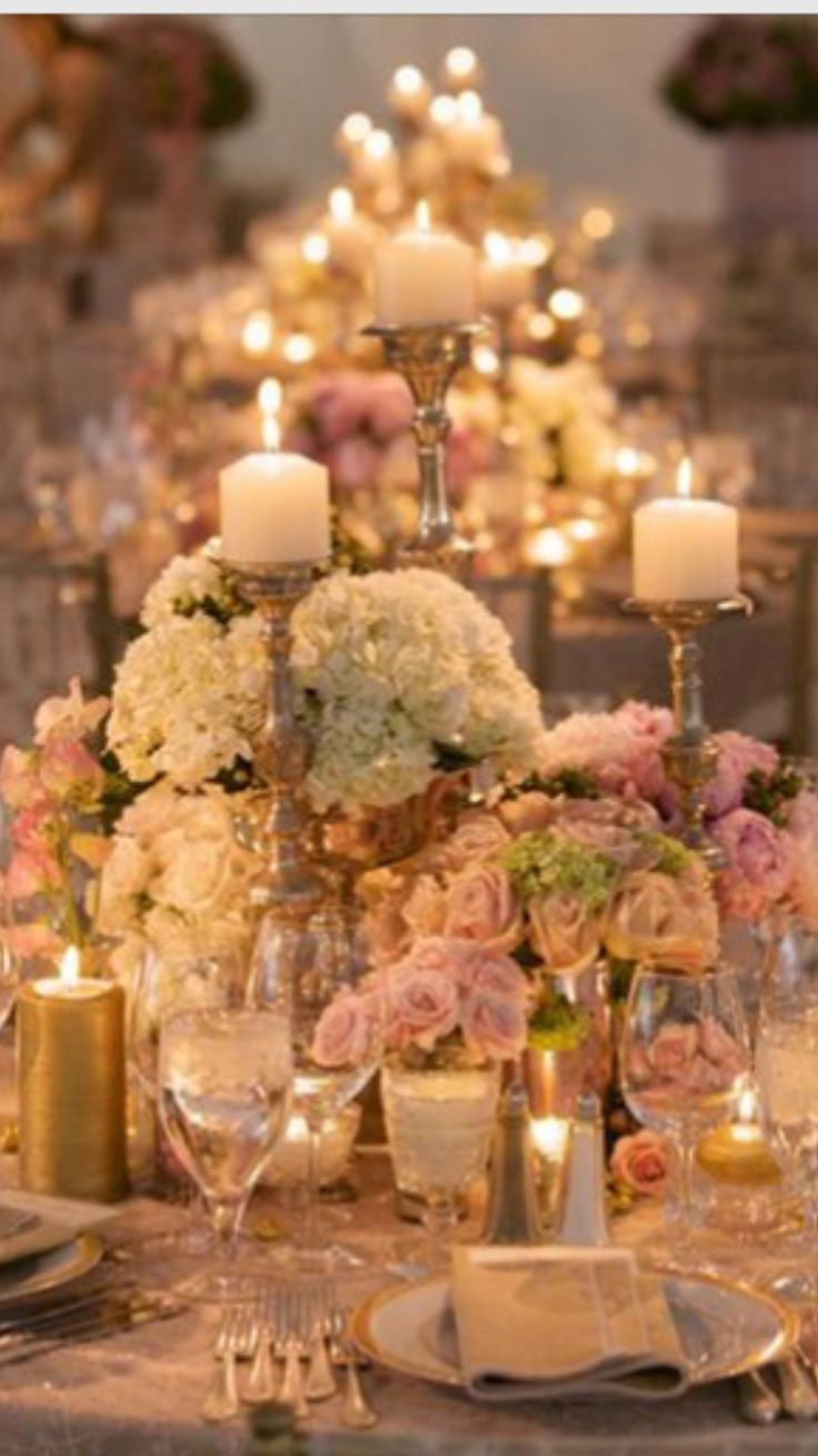 Romantic Rose gold and white