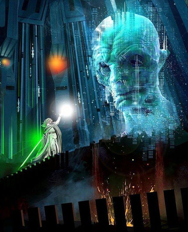Imagina o quão épico será esse encontro! Será que teremos esse embate nos próximos filmes? - Arte fantástica de Eli Hyder (@venamis) - #starwars #lukeskywalker #jedi #lightside #ladodaluz #supremeleadersnoke #supremolídersnoke #darkside #ladonegro #ladosombrio #art #arte #illustration #ilustração #elihyder #venamis