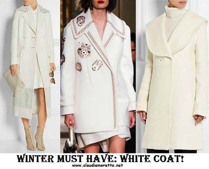 MUST HAVE: White coat! Tutti i cappotti bianchi dell'inverno 2016