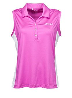 Ladies Colorblock ClimaCool Sleeveless LPGA Golf Shirt by adidas Golf