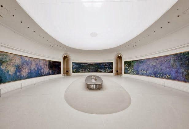 telas gigantes de Monet. Musée de l'orangerie | paris #museum #orangerie #monet #waterlilies #paris #france