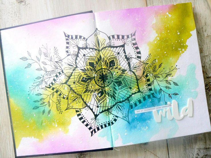 Watercolor mandala art journal
