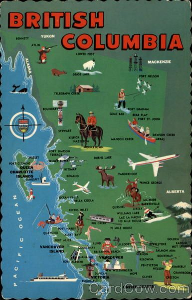 Map of British Columbia #bcmap