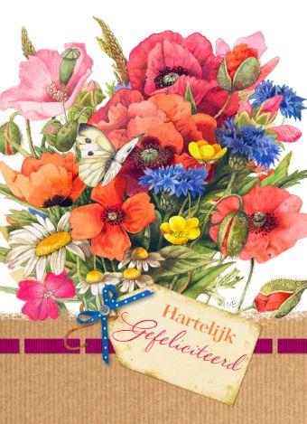 Feliciteer iemand met deze vrolijke kaart van Marjolein Bastin van Hallmark Cards.