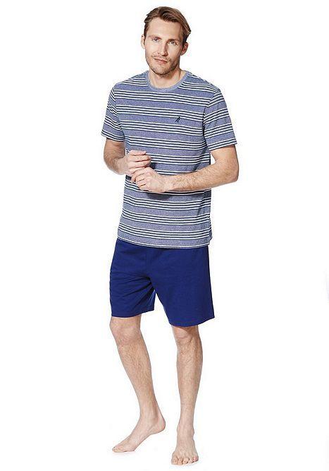 Tesco direct: F&F Striped T-Shirt and Shorts Loungewear Set