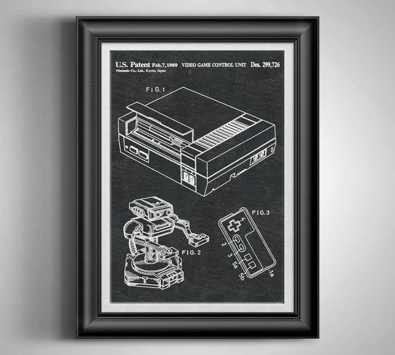 Nintendo NES Video Game Poster Retro Gaming Teen Boy Gift Little Man Cave Wall Art Geek Art Gamer Ro