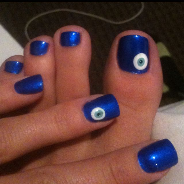 Evil eye nails!! One of my favorites I did!