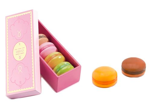 toy macaroons with very pretty packaging