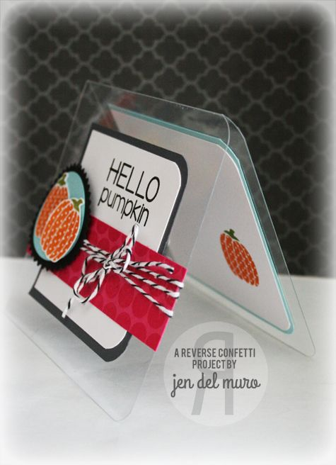Card Making Ideas Using Acetate Part - 29: Acetate Card Using Reverse Confetti Stamps (Forever Fall, Whole Lotta Dots)