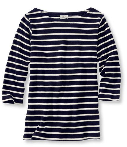 French Sailor's Shirt, Three-Quarter-Sleeve Boatneck: Three-Quarter Sleeve | Free Shipping at L.L.Bean