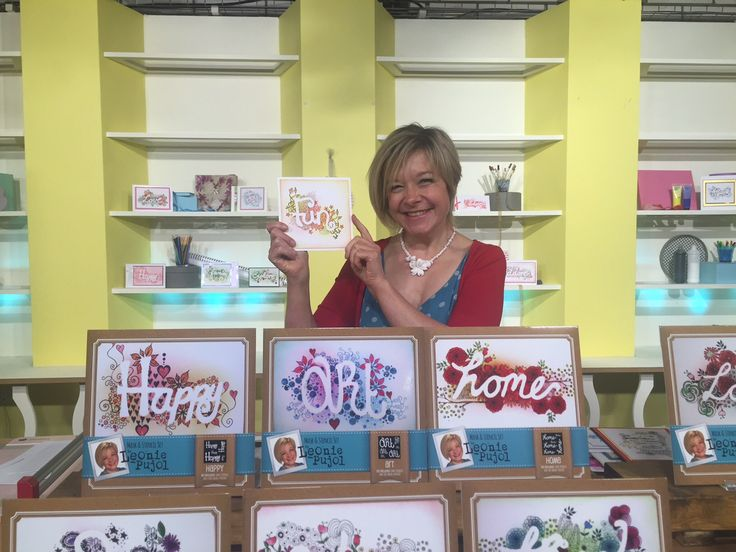 The Launch of Leonie Pujol's very own range! #Hochanda #Crafts #Hobbies #Arts #Crafting #Stamping #Stencils