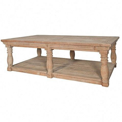 Heavy set country style coffee table - Trade Secret