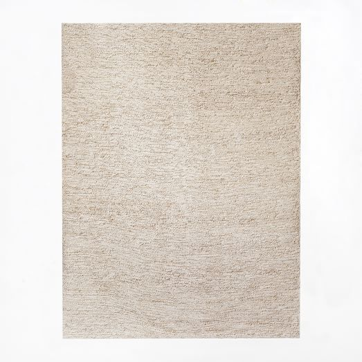 Mini Pebble Wool Jute Rug - Natural/Ivory | west elm