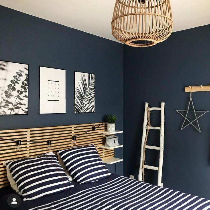 Blue Bedroom, Bedroom Colors, Master Bedroom Design, Home Decor Bedroom, Bedroom Styles, Home Interior Design, Tiny House, House Ideas, Inspiration
