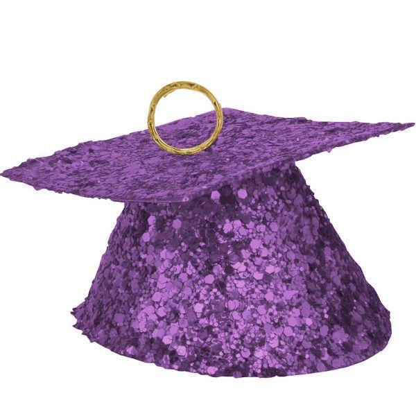 Purple Glitter Graduation Balloon Weight