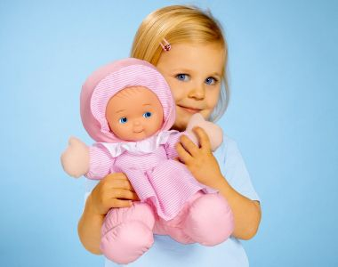 abc cuddly #doll #pink #Playtime #Kids #toys #softoys