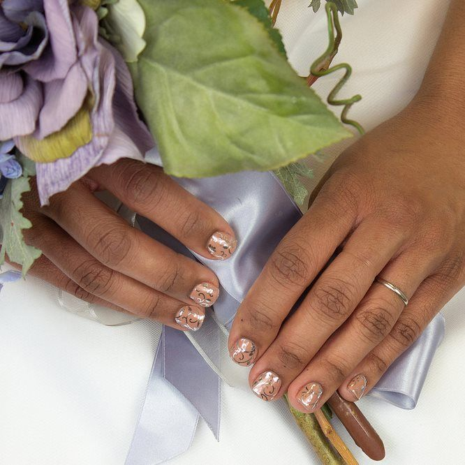 Jamberry: Wedding Nails, Love Fern