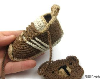 Blue Baby Shoes Crochet Baby Sneakers Crochet Baby Shoes