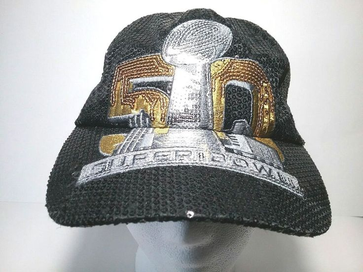 Womens 50th Superbowl Hat Strapback 47 Brand Shiny NFL Broncos Panthers #47