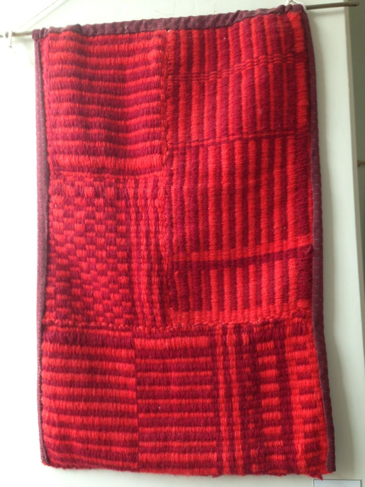 """Red"" textured wall hanging by Jackie Maddocks at Melin Trefin, Trefin, Pembrokeshire. www.melintrefin.co.uk"