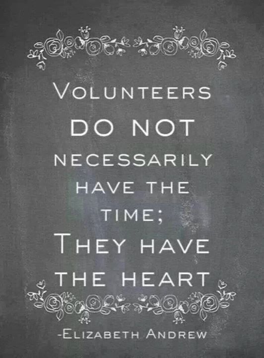 Volunteers have heart