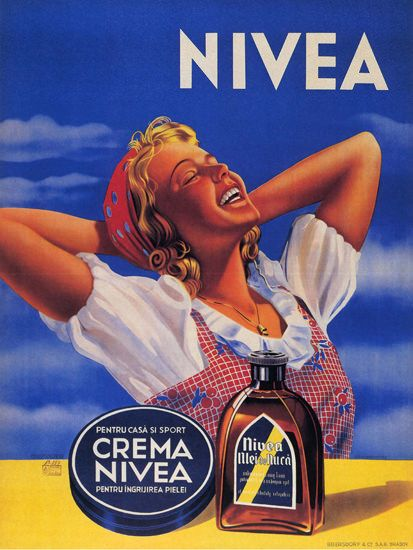 Crema Nivea Romania Nivea Ulei De Nuca Cream - Mad Men Art: The 1891-1970 Vintage Advertisement Art Collection