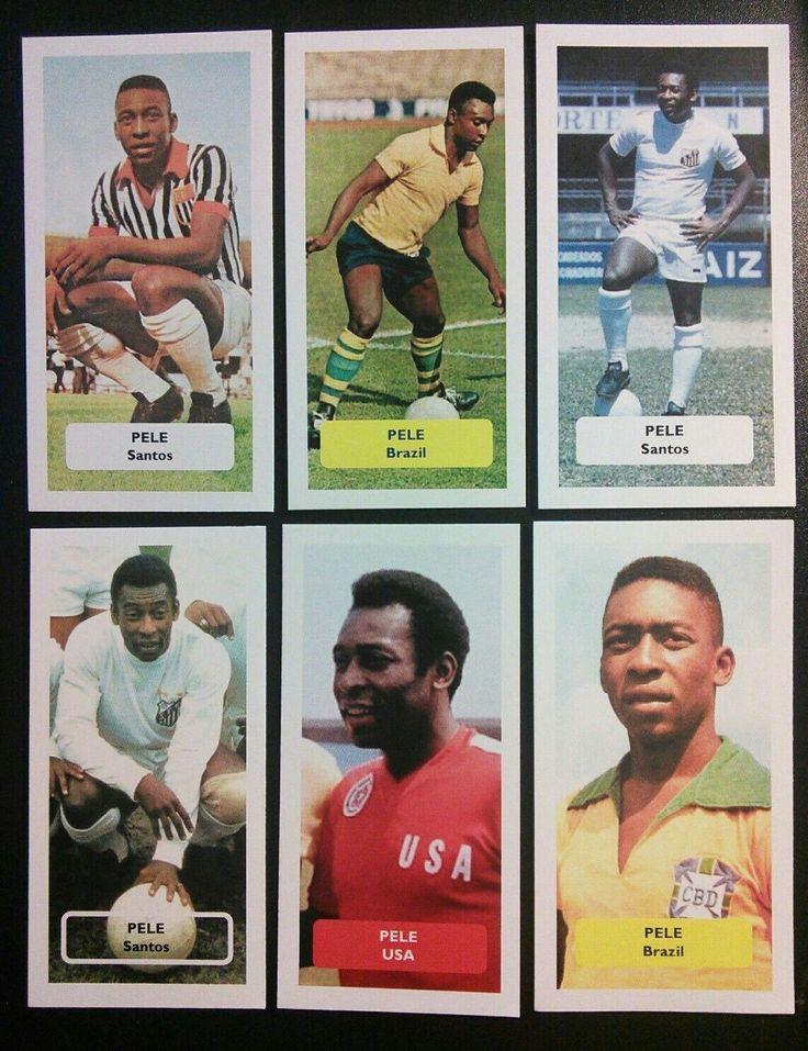 Pele Score trade cards -  Santos Brazil, new York cosmos USA - Caplin and rosetti