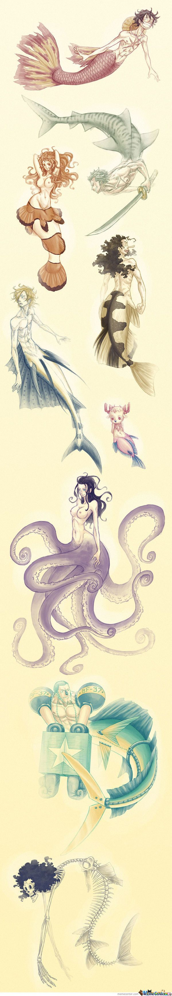 one piece mermaid