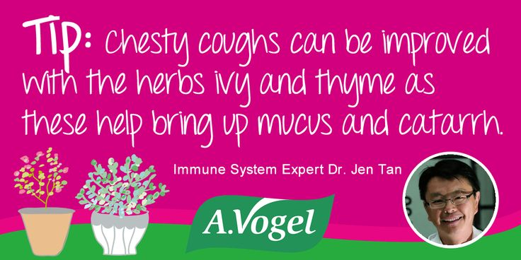 For more tips & advice on chesty coughs visit the A.Vogel Immune System Health Hub