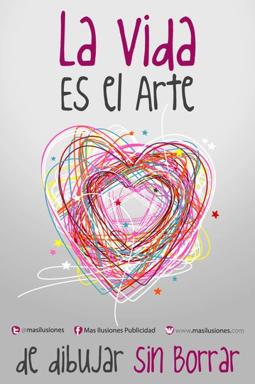 La vida es el arte de dibujar sin borrar...